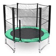 Trampolína s ochrannou sítí G21 250 cm, zelená - Trampolína