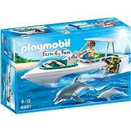 Playmobil 6981 Sportovní člun s potápěči - Stavebnice