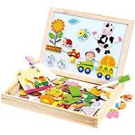 Bino Farma magnetická tabulka s puzzlemi - Magnetická stavebnice