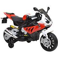 Dětská motorka BMW – bílo-červená - Dětská elektrická motorka