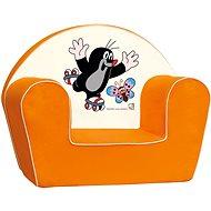 Bino Křesílko oranžové - Krteček - Dětský nábytek