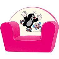Bino Křesílko růžové - Krteček - Dětský nábytek