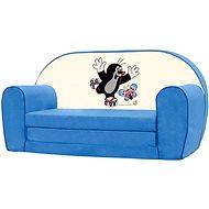 Bino Mini-pohovka modrá - Krteček - Dětský nábytek