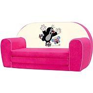 Bino Mini-pohovka růžová - Krteček - Dětský nábytek