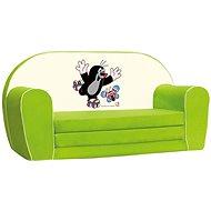 Bino Mini-pohovka zelená - Krteček - Dětský nábytek