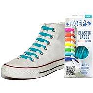Shoeps - Silikonové tkaničky aqua Blue - Sada tkaniček