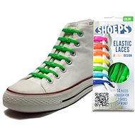 Shoeps - Silikonové tkaničky zelené - Sada tkaniček