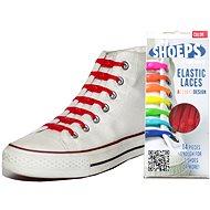 Shoeps - Silikonové tkaničky červené - Sada tkaniček