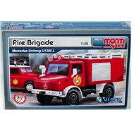 Monti system 16 - Fire Brigade Mercedes Unimog měřítko 1:48 - Stavebnice
