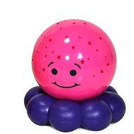 Cloud B Zářící chobotnička - fialová - Dětská lampička