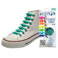 Shoeps - Silikonové tkaničky green sea - Sada tkaniček