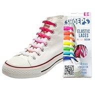 Shoeps - Silikonové tkaničky mix pink - Sada tkaniček