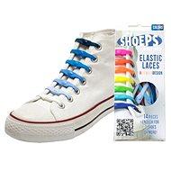 Shoeps - Silikonové tkaničky mix blue - Sada tkaniček