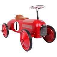 Kovové odrážedlo - Historické závodní auto červené - Odrážedlo