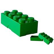Svačinový box LEGO Box na svačinu 100 x 200 x 75 mm - tmavě zelený - Svačinový box