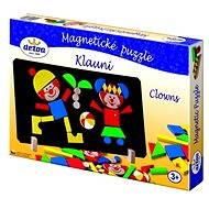 Dřevěné hračky - Magnetické puzzle Klauni - Puzzle