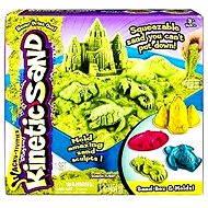 Kinetický písek - Box 454 g zelená barva - Kreativní sada