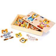 Dřevěné hračky - Oblékání medvědů - Kreativní sada
