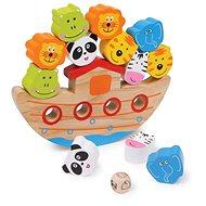 Dřevěná motorická hra - Balancující archa - Kreativní hračka