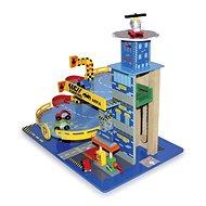 Dětská parkovací dřevěná garáž - Metropol - Herní set