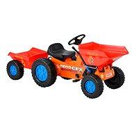 Dětský traktůrek - Vyklápeč s vlekem HECHT 51412 - Šlapací traktor
