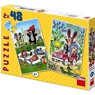 Dino Krteček se raduje - Puzzle