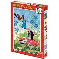 Dino Krteček a autíčko - Puzzle