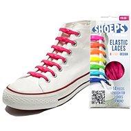 Shoeps - Silikonové tkaničky fuchsiová růžová - Sada tkaniček
