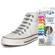 Shoeps - Silikonové tkaničky XL stříbrné - Sada tkaniček