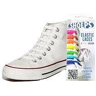 Shoeps - Silikonové tkaničky XL bílé - Sada tkaniček