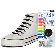 Shoeps - Silikonové tkaničky XL černé - Sada tkaniček