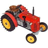 Kovap Traktor na klíček červený - Kovový model