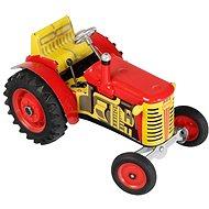 Kovap Traktor Zetor na klíček červený - Kovový model