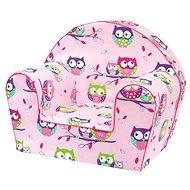 Bino Křesílko růžové - Sovičky - Dětský nábytek