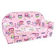Bino Pohovka růžové - Sovičky - Dětský nábytek