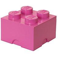 LEGO Úložný box 4 250 x 250 x 180 mm - růžový - Úložný box