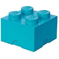 LEGO Úložný box 4 250 x 250 x 180 mm - azurový - Úložný box