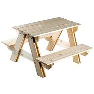 Dřevěná souprava stolek + lavice - Set