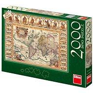 Dino Historická mapa světa - Puzzle