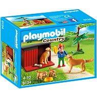 Playmobil 6134 Zlatý retriever se štěnaty - Stavebnice
