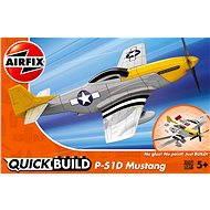 AirFix Quick Build J6016 letadlo – P-51D Mustang - Plastový model