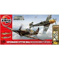 AirFix Gift Set A50135 letadlo – Supermarine Spitfire MkIa vs Messerschmitt Bf109E-4 - Plastový model