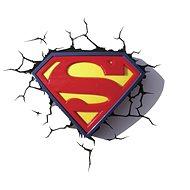 3D Světlo Superman Logo - Osvětlení do dětského pokoje