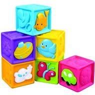 Didaktická hračka Dětské pískací kostky 6 ks
