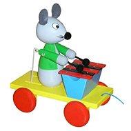 Tahací myš s xylofonem - Tahací hračka