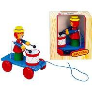 Tahací šašek s bubnem - Tahací hračka