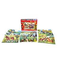 Topa dřevěné kostky kubus - Zvířátka na statku 12 ks - Obrázkové kostky