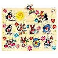 Bino Wooden Insertion Puzzle- Mole - Puzzle