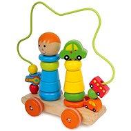 Motorický vozík s labyrintem - Tahací hračka