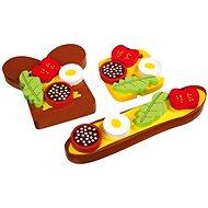 Dřevěné potraviny - Obložený chléb - Herní set